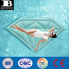 Inflatable Floating Row Diamond Shape Air Sofa Bed Recliner for Beach Swimming Pool Seaside custom plastic vinyl lilo raft