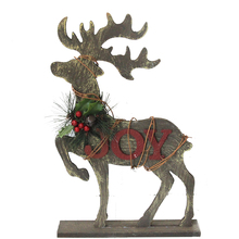 Chinese custom handmade wooden deer table christmas ornament