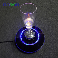 20-25mm floating distance top grade customized acrylic led bottle glorifier displays