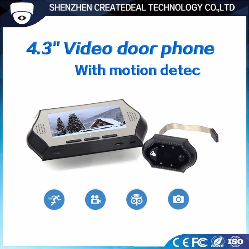 4.3 Inch Peephole Camera Cam Door Viewer with Night Version for Home Security-619