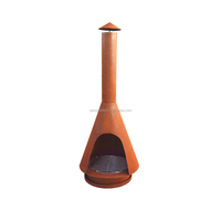 wood burning corten steel Outdoor chiminea for outdoor heating