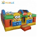 Customized jumping minion inflatable trampoline bounce house
