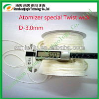 2014 best quality 3mm glass fiber wick /silica wick with low price