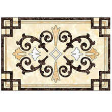 decorative mix color pattern marble floor tile