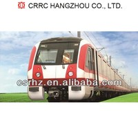 Metro vehicle, subway car, railway car