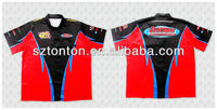 custom sublimated motorcycle racing shirt with full button special design