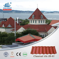 Building material stone chips coated metal roof tile