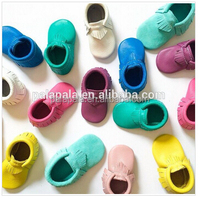 2017 new genuine leather baby moccasins tassel toddler girls baby shoes