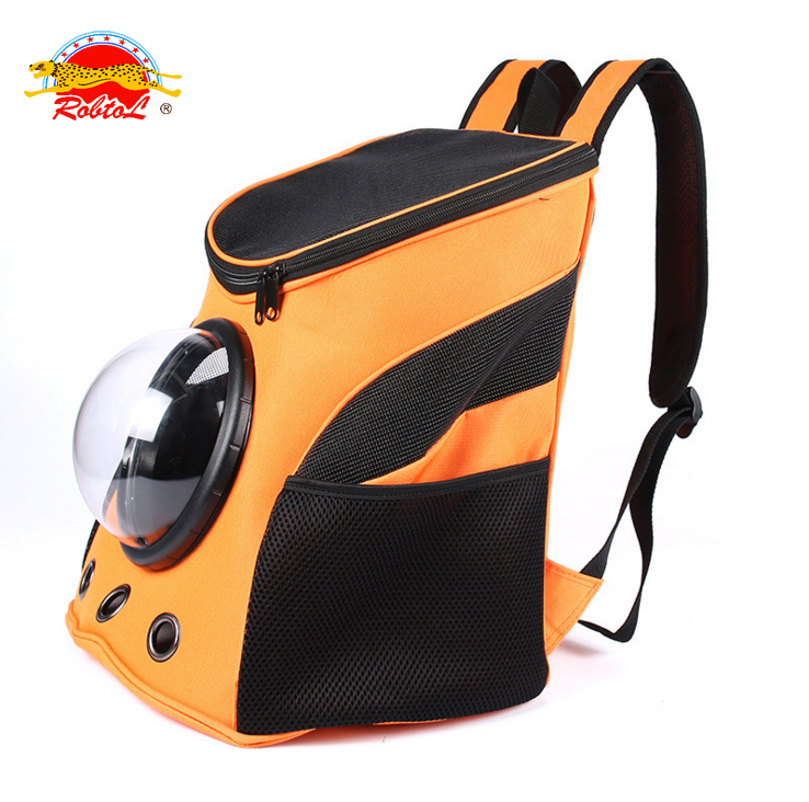 Fashion Breathable pet carrier backpack for small dog cat travel bag portable safety soft carrier bags outdoor air China supplie