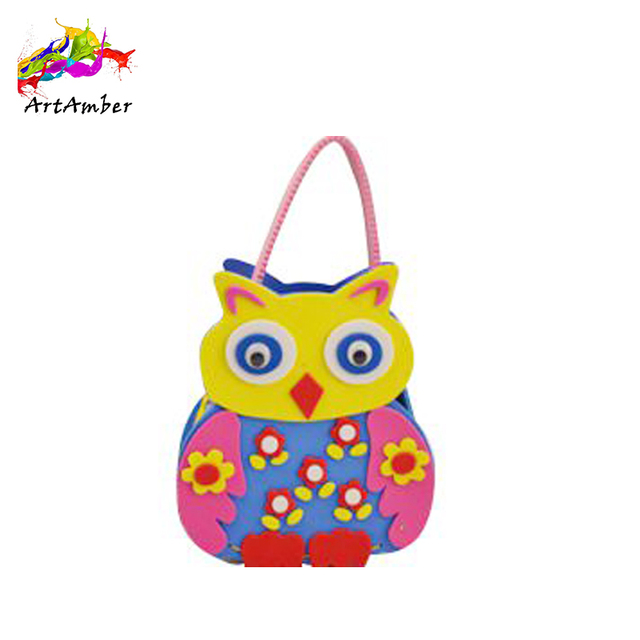 Different kinds of handmade educational soft story kids toy handbags