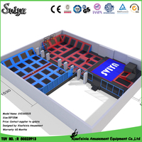 PP material jumping mat and big trampoline with air bag