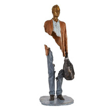 Modern abstract figure sculpture bronze bruno catalano statue for sale