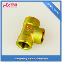 tee pipe fittings GT-08-06 for swivel joint tee