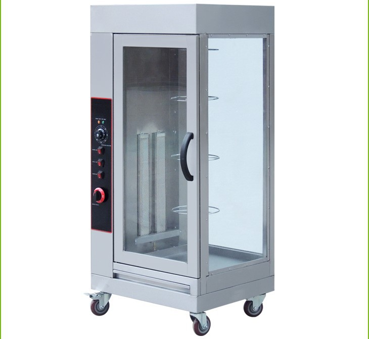 Electric vertical rotary rotisserie/ automatic chicken rotisserie machine/ chicken roster