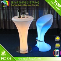 glow led mobile bar / led bar counter / portable bar counterPortable Led Light BarHigh Top Cocktail Table With Wine Cooler