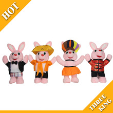 "Duracell Customize 4"" Plush Bunny Rabbit Toy With 5 Styles 100% organic cotton"