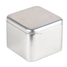 square plain tin box