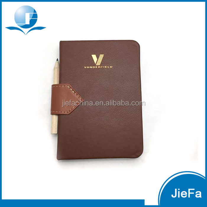 Hardcover Leather Cover Pocket Notebook