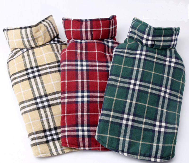Pet autumn outdoor costume casual plaid jacket waterproof winter dog clothing