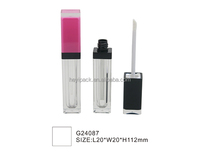 empty plastic packaging square lip gloss cosmetic bottles