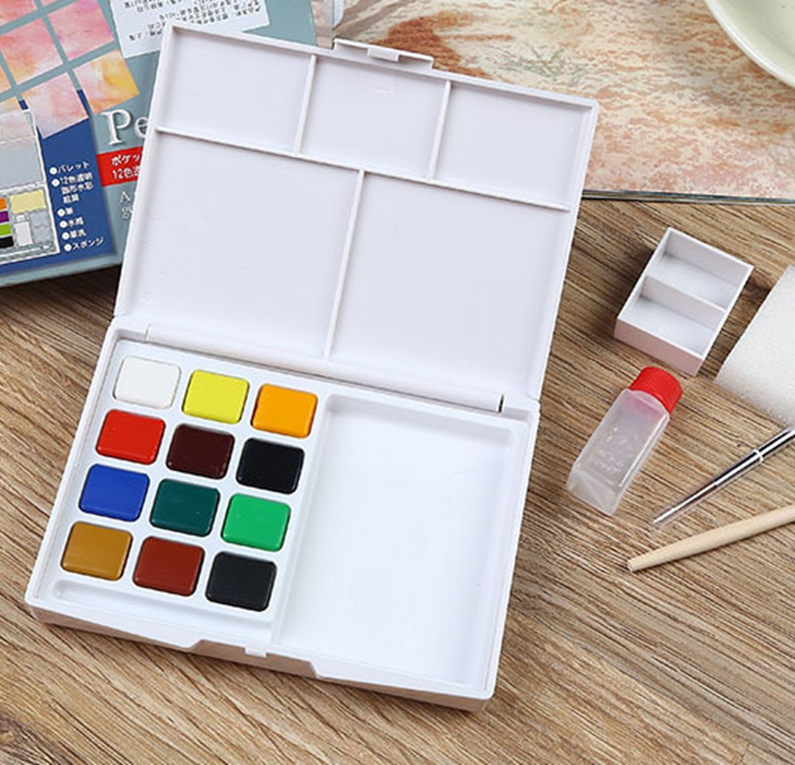 Berocks Non-toxic WaterColor Art Craft paint/plaster craft paint ,12ml watercolour paint set