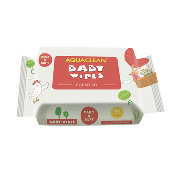 80 baby wipes scented