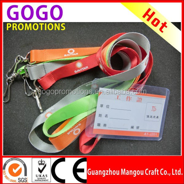 High quality wholesale customized polyester lanyards for promotion cheap custom lanyards with logo no minimum order