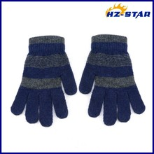 HZS-13233 knitted about offset printing black magic protective gloves