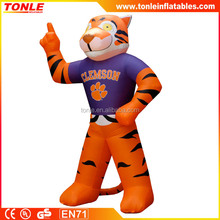 Inflatable Clemson Tiger, Inflatable Tiger Mascot, Lawn Inflatable Tiger Replicate for sale
