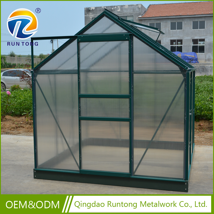 2017 Hot Selling Top Quality Aluminium Frame And Base Victorian Greenhouse with Sliding Door