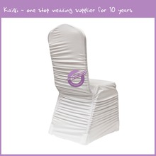 YT09513 Fashionable design direct factory made spandex folding custom wholesale ruffled wedding chair cover