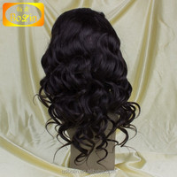 Indian Remy Lace Front 100 Percent Human Hair Wigs For Black Women Adjustable wig cap