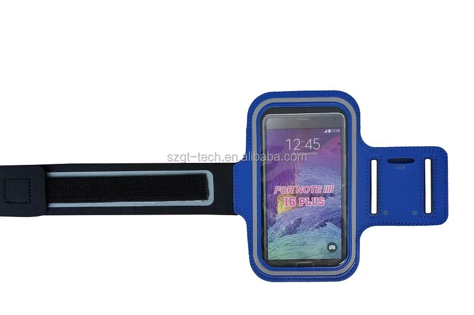 2016 hot sale waterproof sport personalized armband cell phone for Samsung Note4