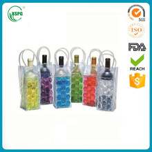 High quality multicolor clear plastic PVC bag/ Ice bag pvc for wine/ PVC ice bag with handle