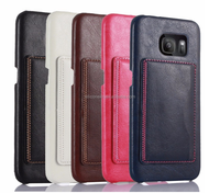 Hot selling PU Leather Mobile Phone Case for Samsung Galaxy S7 Edge with Card Slot and Stand ,Case for Samsung Galaxy S7 Edge