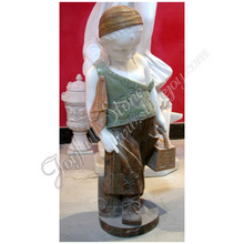Natural Marble Little Girl Garden Statues