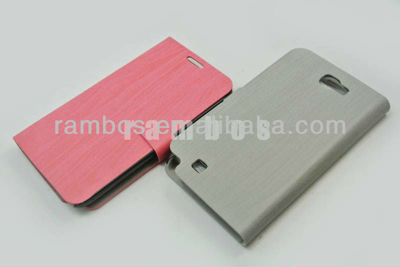 Ultra Flip Wood Pattern PU Leather Phone Case Cover for Samsung Galaxy Note 2 N7100