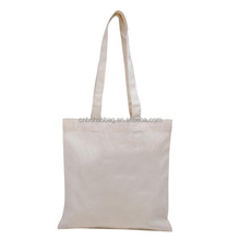 wholesale Fashion Promotional recycled white plain canvas tote bags