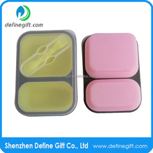 Non Stick Collapse Down After Lunch to Save Backpack Space Silicone Lunch Box Containers