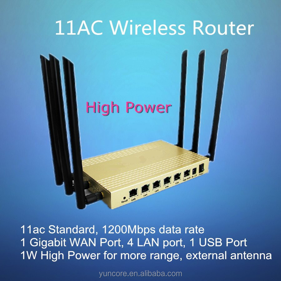 11 ac 1200Mbps multi function high power openWRT Wireless Router