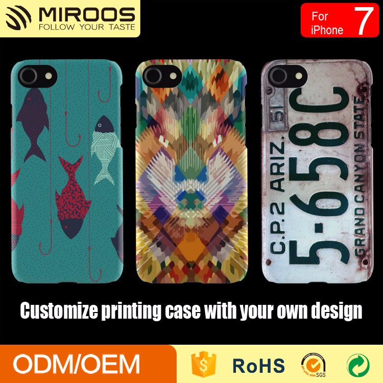 Hard PC Water Transfer Cover For iPhone 6 7 Custom Design Colorful Print Case