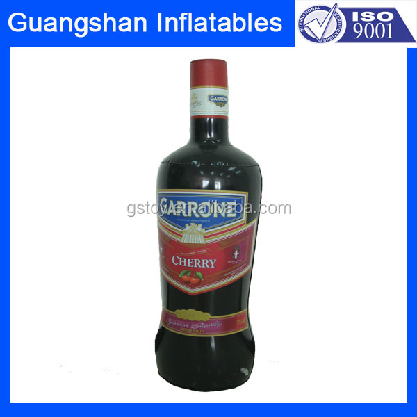 Promotional toys giant inflatable advertising water wine bottle
