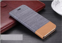 Canvas With Folding Stand Phone Leather Funda Wallet Flip Case for LG Zero