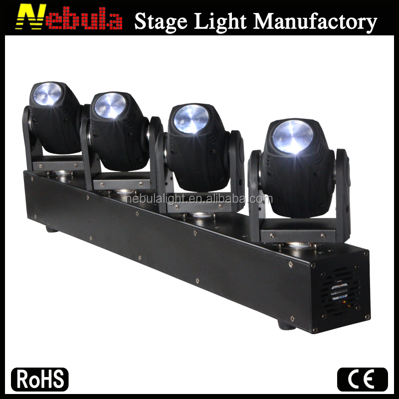 Nebula 4 x 10W white LED beam moving head dj lights 4 head white led beam moving bar