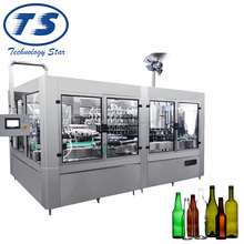 3-in-1 unit automatic aerated beverage carbonated drink glass bottle filling machine