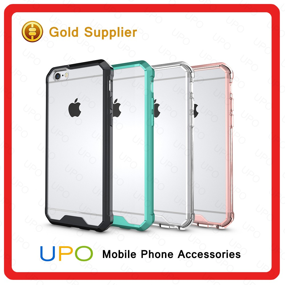 [UPO] Newest Transparent Crystal Custom Phone Case Soft TPU Printing Mobile Phone Case for iPhone 6 TPU PC Case