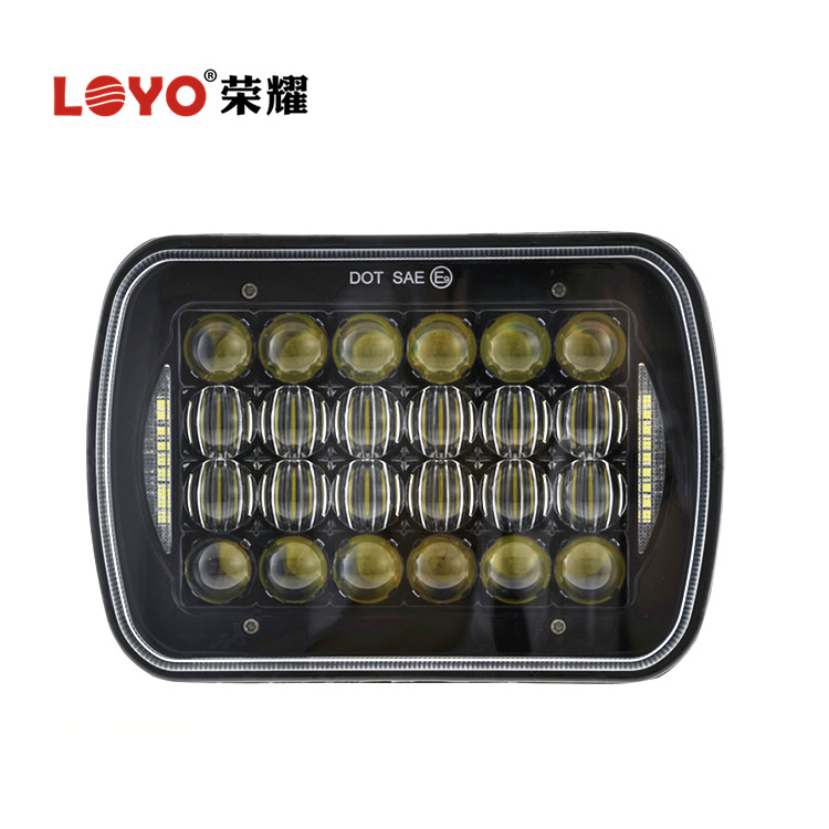 "LOYO Unique 5"" x 7"" Rectangle LED Headlight for Jeep XJ MJ YJ With DRL"