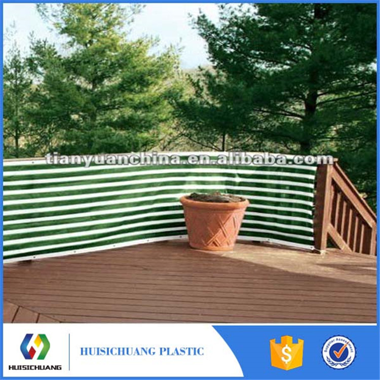 100% HDPE balcony vinyl privacy screen shade fence nets with UV resistant
