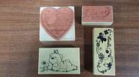All kinds of wooden stamps Different types of wooden stamps