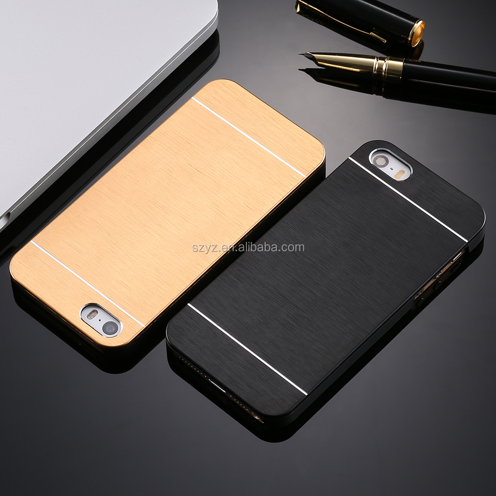 Amazon Luxury Hard Aluminum Metal Frame Phone Accessories Hard Cover + Logo Phone Case For Apple iphone 5 5S SE / 6 S 7 Plus